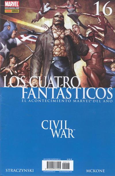 Cover for Los 4 Fantásticos (Panini España, 2006 series) #16