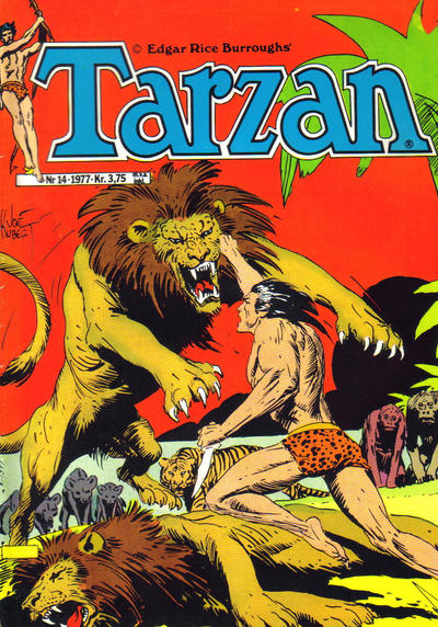 Cover for Tarzan (Atlantic Forlag, 1977 series) #14/1977