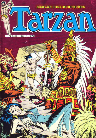 Cover for Tarzan (Atlantic Forlag, 1977 series) #15/1977