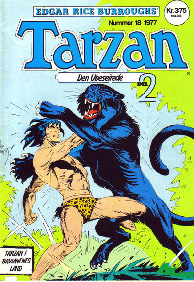Cover for Tarzan (Atlantic Forlag, 1977 series) #18/1977