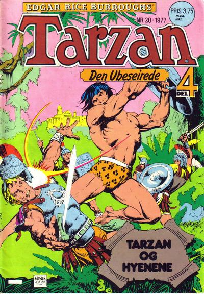Cover for Tarzan (Atlantic Forlag, 1977 series) #20/1977