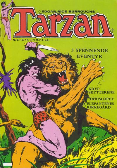 Cover for Tarzan (Atlantic Forlag, 1977 series) #23/1977
