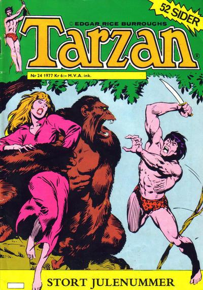 Cover for Tarzan (Atlantic Forlag, 1977 series) #24/1977