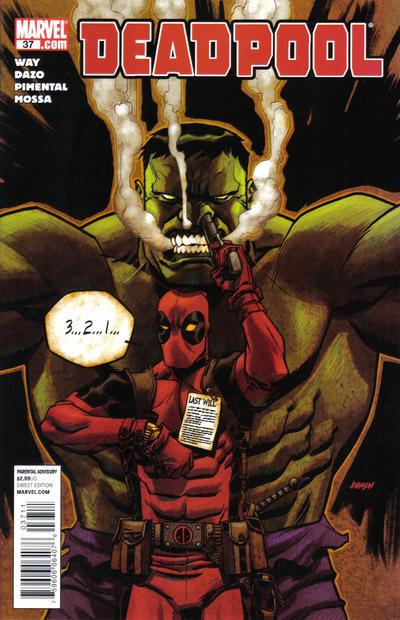 Cover for Deadpool (Marvel, 2008 series) #37