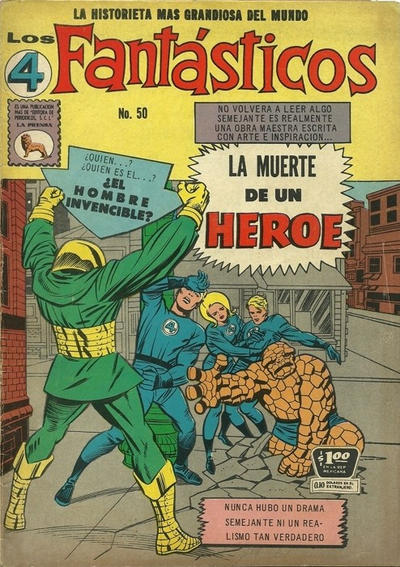 Cover for Los 4 Fantásticos (Editora de Periódicos La Prensa S.C.L., 1962 series) #50