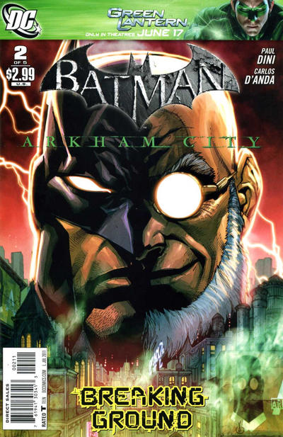 Cover for Batman: Arkham City (DC, 2011 series) #2