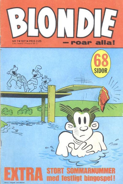 Cover for Blondie (Semic, 1963 series) #7/1971