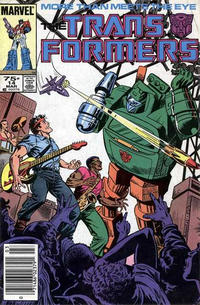 Cover Thumbnail for The Transformers (Marvel, 1984 series) #14 [Newsstand Edition]
