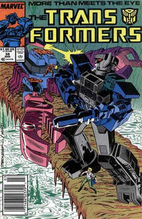 Cover Thumbnail for The Transformers (Marvel, 1984 series) #38 [Newsstand]