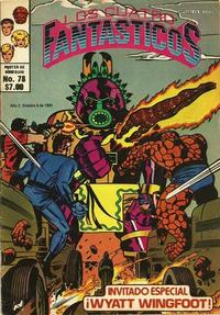 Cover Thumbnail for Los Cuatro Fantásticos (Novedades, 1980 series) #78