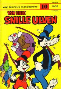 Cover Thumbnail for Walt Disney's Månedshefte (Hjemmet / Egmont, 1967 series) #10/1968