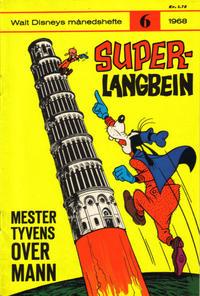 Cover Thumbnail for Walt Disney's Månedshefte (Hjemmet / Egmont, 1967 series) #6/1968