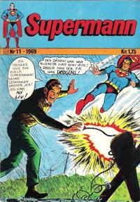 Cover Thumbnail for Supermann (Illustrerte Klassikere / Williams Forlag, 1969 series) #11/1969