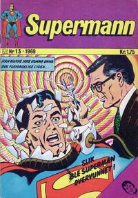 Cover Thumbnail for Supermann (Illustrerte Klassikere / Williams Forlag, 1969 series) #13/1969