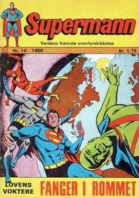 Cover Thumbnail for Supermann (Illustrerte Klassikere / Williams Forlag, 1969 series) #16/1969