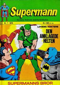 Cover Thumbnail for Supermann (Illustrerte Klassikere / Williams Forlag, 1969 series) #7/1970