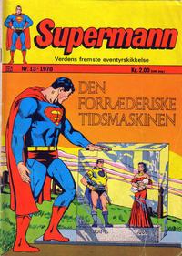 Cover Thumbnail for Supermann (Illustrerte Klassikere / Williams Forlag, 1969 series) #13/1970