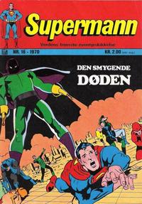 Cover Thumbnail for Supermann (Illustrerte Klassikere / Williams Forlag, 1969 series) #16/1970