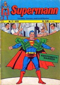 Cover Thumbnail for Supermann (Illustrerte Klassikere / Williams Forlag, 1969 series) #17/1970