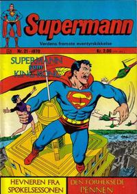 Cover Thumbnail for Supermann (Illustrerte Klassikere / Williams Forlag, 1969 series) #21/1970