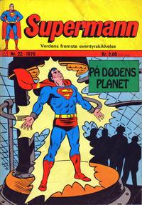 Cover Thumbnail for Supermann (Illustrerte Klassikere / Williams Forlag, 1969 series) #22/1970