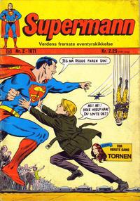 Cover Thumbnail for Supermann (Illustrerte Klassikere / Williams Forlag, 1969 series) #2/1971
