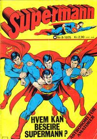 Cover Thumbnail for Supermann (Illustrerte Klassikere / Williams Forlag, 1969 series) #8/1975