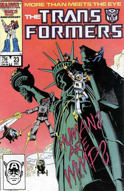 Cover for The Transformers (Marvel, 1984 series) #23 [Newsstand]