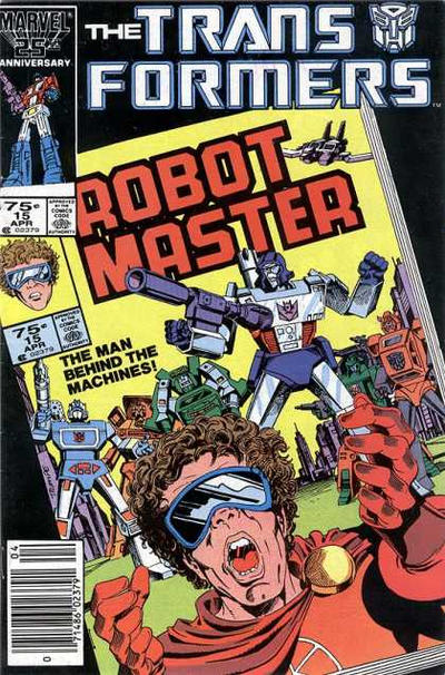 Cover for The Transformers (Marvel, 1984 series) #15 [Newsstand Edition]