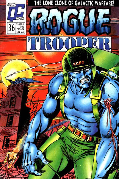 Cover for Rogue Trooper (Fleetway/Quality, 1987 series) #36