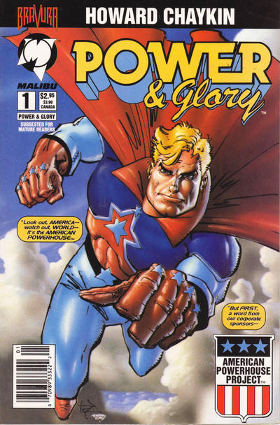 Cover for Power & Glory (Malibu, 1994 series) #1 [Serigraph Edition]