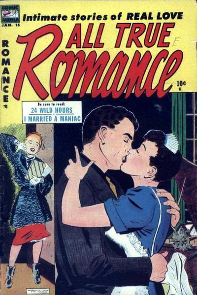 Cover for All True Romance (Comic Media, 1951 series) #15
