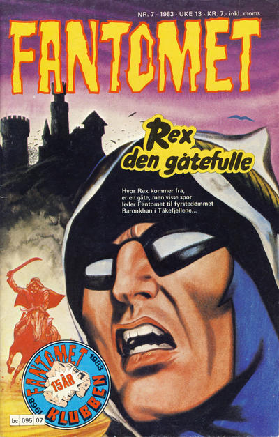 Cover for Fantomet (Semic, 1976 series) #7/1983