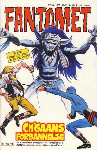Cover for Fantomet (Semic, 1976 series) #8/1983