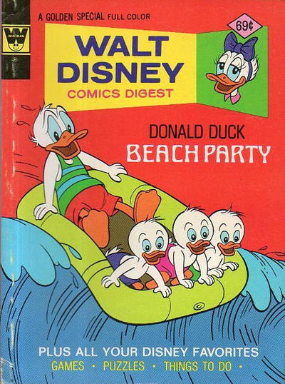 Cover for Walt Disney Comics Digest (Western, 1968 series) #54 [Whitman]
