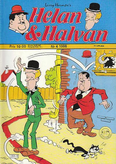 Cover for Helan och Halvan (Atlantic Förlags AB, 1978 series) #4/1986