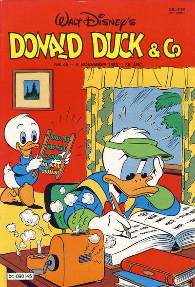 Cover for Donald Duck & Co (Hjemmet / Egmont, 1948 series) #45/1983