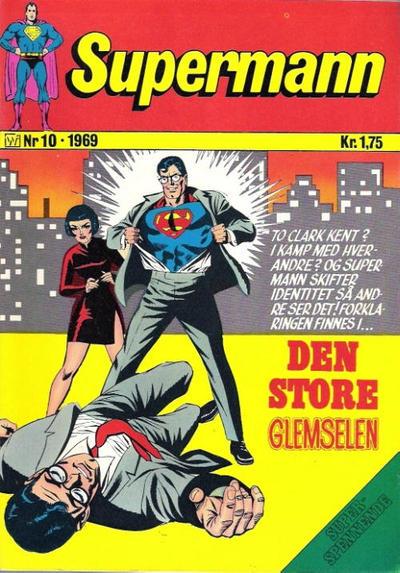 Cover for Supermann (Illustrerte Klassikere / Williams Forlag, 1969 series) #10/1969