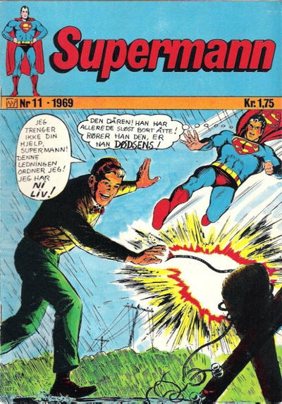 Cover for Supermann (Illustrerte Klassikere / Williams Forlag, 1969 series) #11/1969
