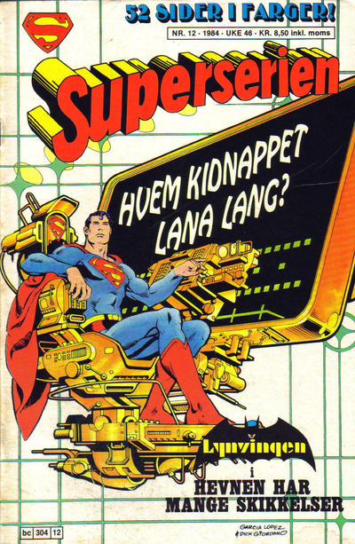 Cover for Superserien (Semic, 1982 series) #12/1984