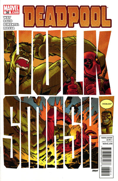 Cover for Deadpool (Marvel, 2008 series) #38 [Newsstand]