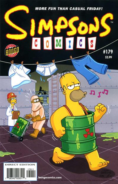 Cover for Simpsons Comics (Bongo, 1993 series) #179