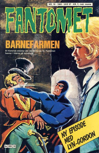 Cover for Fantomet (Semic, 1976 series) #19/1983