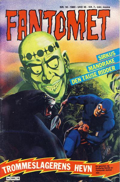 Cover for Fantomet (Semic, 1976 series) #18/1983