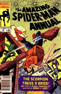 Cover for The Amazing Spider-Man Annual (Marvel, 1964 series) #18 [Direct Edition]