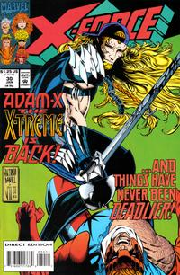 Cover Thumbnail for X-Force (Marvel, 1991 series) #30 [Direct Edition]
