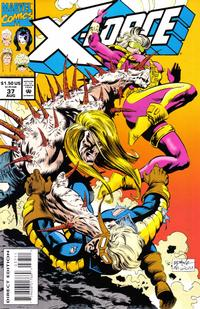 Cover Thumbnail for X-Force (Marvel, 1991 series) #37 [Direct Edition]
