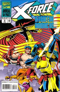 Cover Thumbnail for X-Force Annual (Marvel, 1992 series) #3 [Direct Edition]