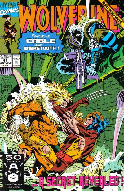 Cover for Wolverine (Marvel, 1988 series) #41 [Direct]