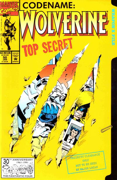 Cover for Wolverine (Marvel, 1988 series) #50 [Direct]